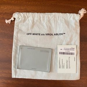 Off-White Green Branded Card Holder